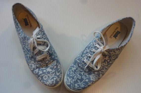 vintage keds floral print tennis shoes 80 s canvas by
