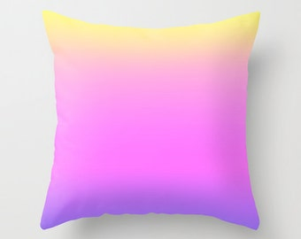 Solid Magenta Throw Pillows Modern Minimalist Sunset Decor Pillow cover Cushion covers Pillow case Accent pillow Couch pillow Decore pillow