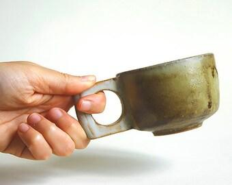 Wheel thrown ceramic cup mug