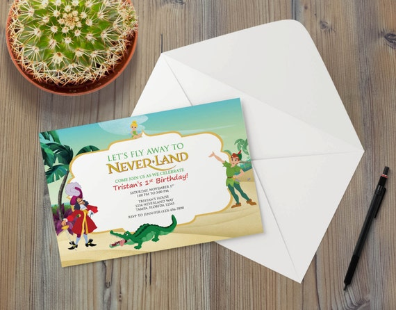 peter pan invitation template - instant download peter pan captain hook by craftyparfait