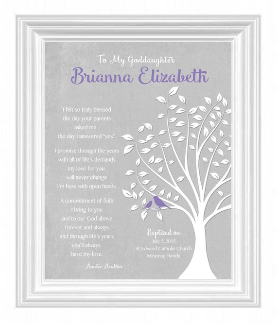 GODDAUGHTER/GODSON gift personalized - Custom Gift for Goddaughter ...