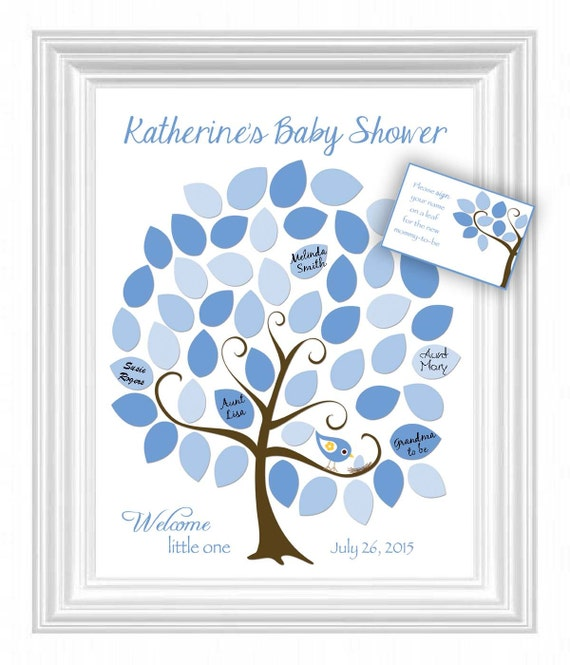 baby shower guest 11x14 sign in tree poster baby shower guestbook