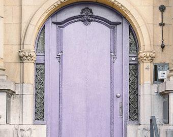 Lavender Door, Paris, France, Lilac Color, Light Purple, Soft Purple, Pastel Lavender Color, Home Decor Art