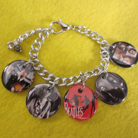Beatles Charm Bracelet: The Beatles Charm Bracelet By SharynKBeatlecrafts On Etsy