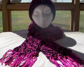 Panther Pink Hat and Scarf Set