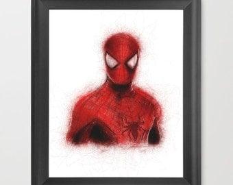 Spiderman INSTANT DOWNLOAD, Marvel comics, superhero, childrens room, kids decor - Comic Book Art download