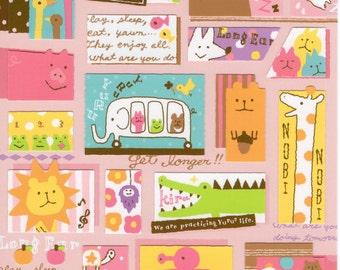 Japan Mind wave kawaii YURU ANIMAL sticker sheet/75991
