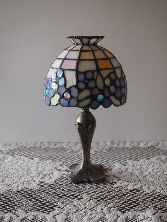1980 S Stained Glass Lamp : S partylite lamp candle holder by gracenthings on etsy