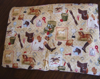 Horse Equipment Quilted Print Back Warmer Corn Cozie