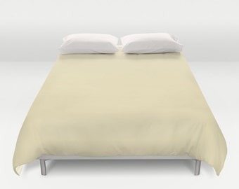 Very Soft Yellow Duvet Cover - F6EABE- Twin, King Queen Size Duvet -  Light Yellow Blanket - Yellow Duvet - Pastel Bedding