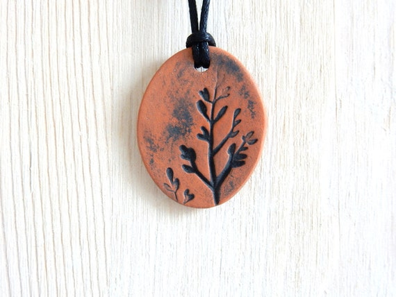 Terracotta Neck Pendant Diffuser ~ Aromatherapy terracotta essential oil diffuser necklace rustic