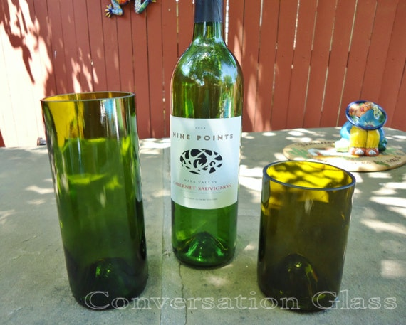 Wine Bottle Glasses for Wedding or Restaurant  Large Quantities Available