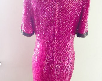 Pink Sequins Dress