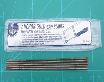Jewellers Saw Blades Packs 144 Blades Size 1/0 to size 6/0 For Piercing and Fret Saw Frames