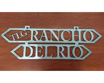 Ranch Sign - Outdoor Sign - Farm - Metal Signs