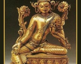 Spiritual Bodhisattva Avalokiteshvara Fridge Magnet Buddhist image Sculpture Art