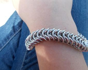 Byzantine 'Box Chain' Chainmail Bracelet