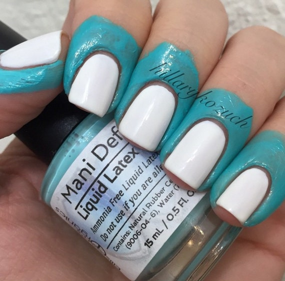 Latex for perfect nails - Use for easy clean up of stamping and nail