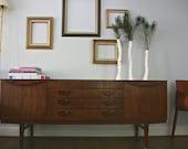 "Vintage Mid Century Modern 72"" Beautility buffet sideboard"