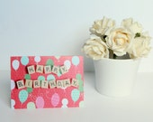 Happy Birthday Card, Happy Birthday Scrabble Card, Scrabble Inspired Greetings Card