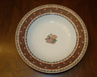 VNG Sasaki Tesserae design by Cathy Heck Soup or Pasta bow Plate Red Tile Replacement