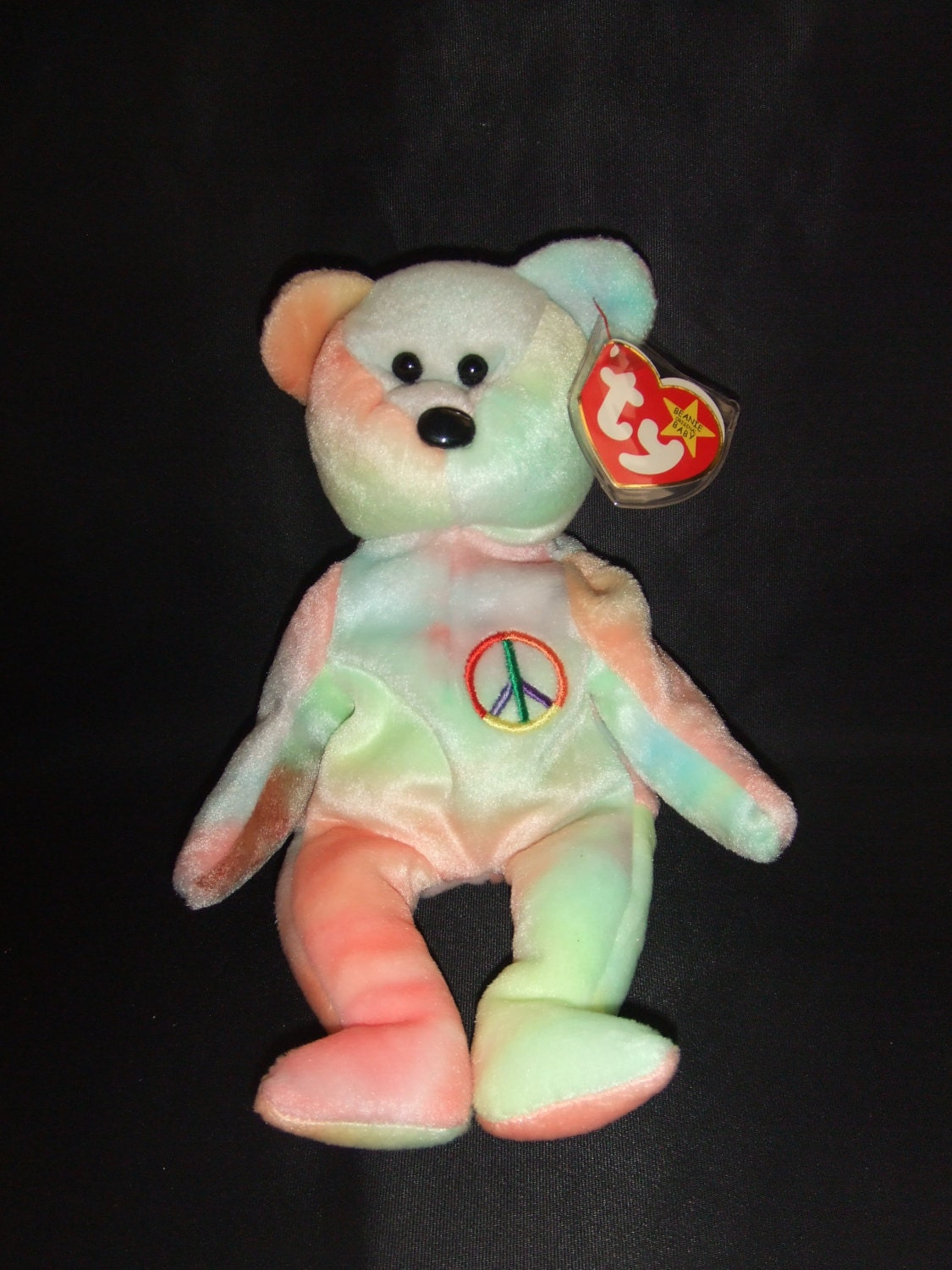 peace bear beanie babies collection original retired. Black Bedroom Furniture Sets. Home Design Ideas