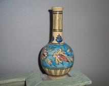 Antique Ceramic Persian Handpainted Bottle