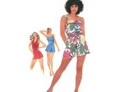 Vintage 80s Summer Romper Simplicity 5124 Size 10-12-14 Bust 32.5-36 Halter Style or Straps Uncut