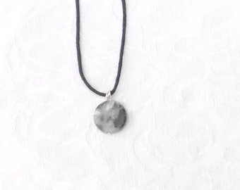 Marble Disk Necklace / men's jewelry / women's jewelry / teen jewelry / Jewelry / boys jewelry / men / women