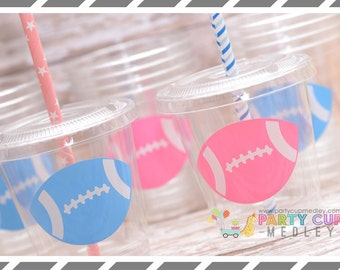Gender Reveal Party Decorations, Set of 8 or 12 You Choose Party Cups, Favor Cups or Reusable Souvenir Cup