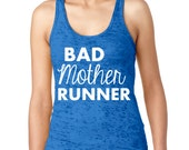 Runner Tank Top ROYAL BLUE Racerback Burnout Tank.  Womens Workout Shirt. Runners Tank Top