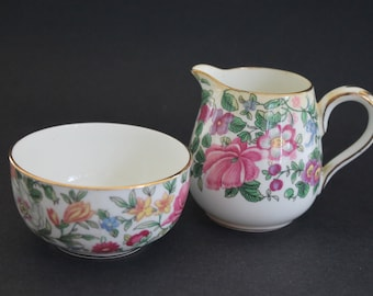 Crown Staffordshire Cream and Sugar Set
