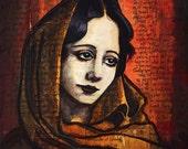 "Anais Nin Portrait Art Illustration Print 8x10"" or 8.5x11 inches"