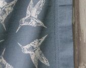 Hummingbird table cloth screen printed