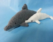 SALE Bottlenose Dolphin with Albino Calf - Actual Item - Ready to Ship! Crocheted Plush