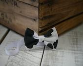 Cow Print Fabric Bow Headband - 18m-10y - Fabric Headband - Handmade Hair Accessories