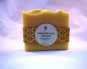 Unscented Goat Milk Cold Process Handmade Soap