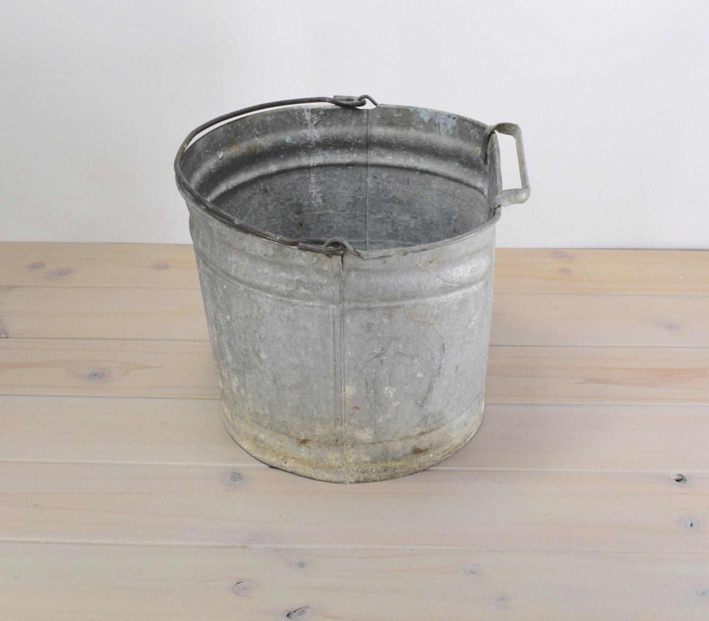 Vintage galvanized bucket for Galvanized well bucket