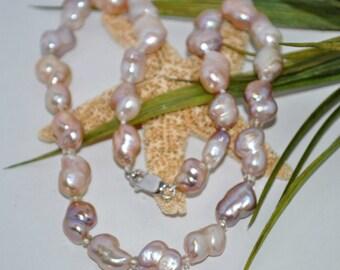Pastel Freshwater Pearls & Sunstone Roundels