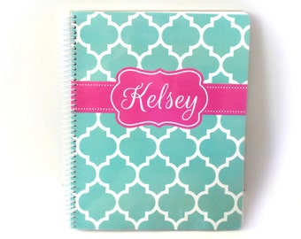 personalized ruled notebook • 8 x 10.5