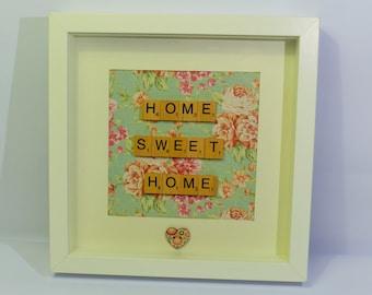 Scrabble Art, Home Sweet Home