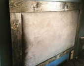 Wooden queen headboard with padded middle