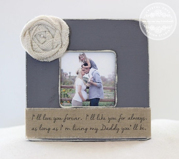 Dad Gift Personalized Picture Frame I Ll Love You