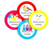 Art Party, Art Party Printable, Art Party Cupcake Toppers - Art Party Favors, Art Thank You Tags, Art Party Decoration - INSTANT