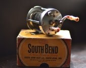 South Bend Bait Co Reel / Fishing Tackle / Vintage Collectible / Rare / 400 Level Winding / boxed original / Flyfishing