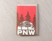 Pacific Northwest Letterpress Greeting Card Silhouette