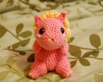 Strawberry Lemonade Druffle ~ Crocheted Amigurumi Dragon
