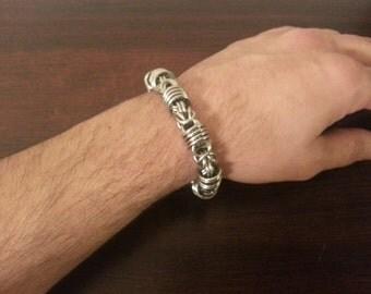 Orbital Byzantine Chainmail Bracelet. Stainless Steel Bracelet