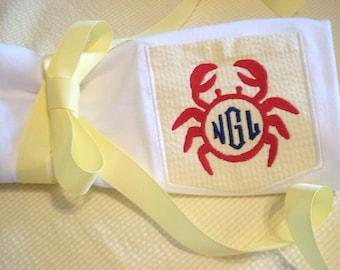 Preppy Beach Tees with Monogram Lil' Crab