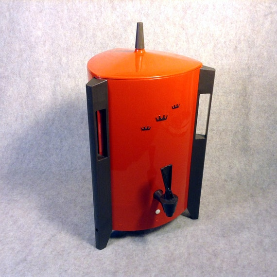 Mid Century Modern Atomic Age - Regal Bright Orange 10-30 cup Electric Poly-urn Coffee Percolator